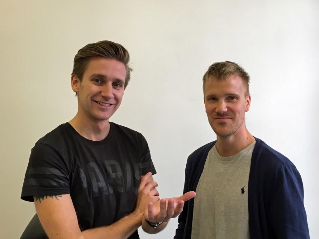 Andreas Andersson  och Niclas Gustafsson.